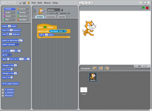 The Scratch user interface