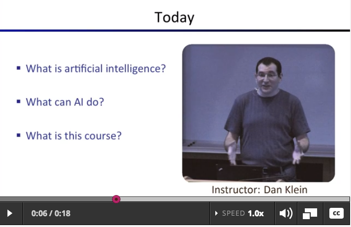 EdX.org: Intro to AI (Berkely)