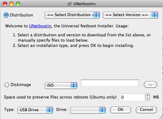 UNetbootin on OSX