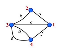 An undirected multigraph